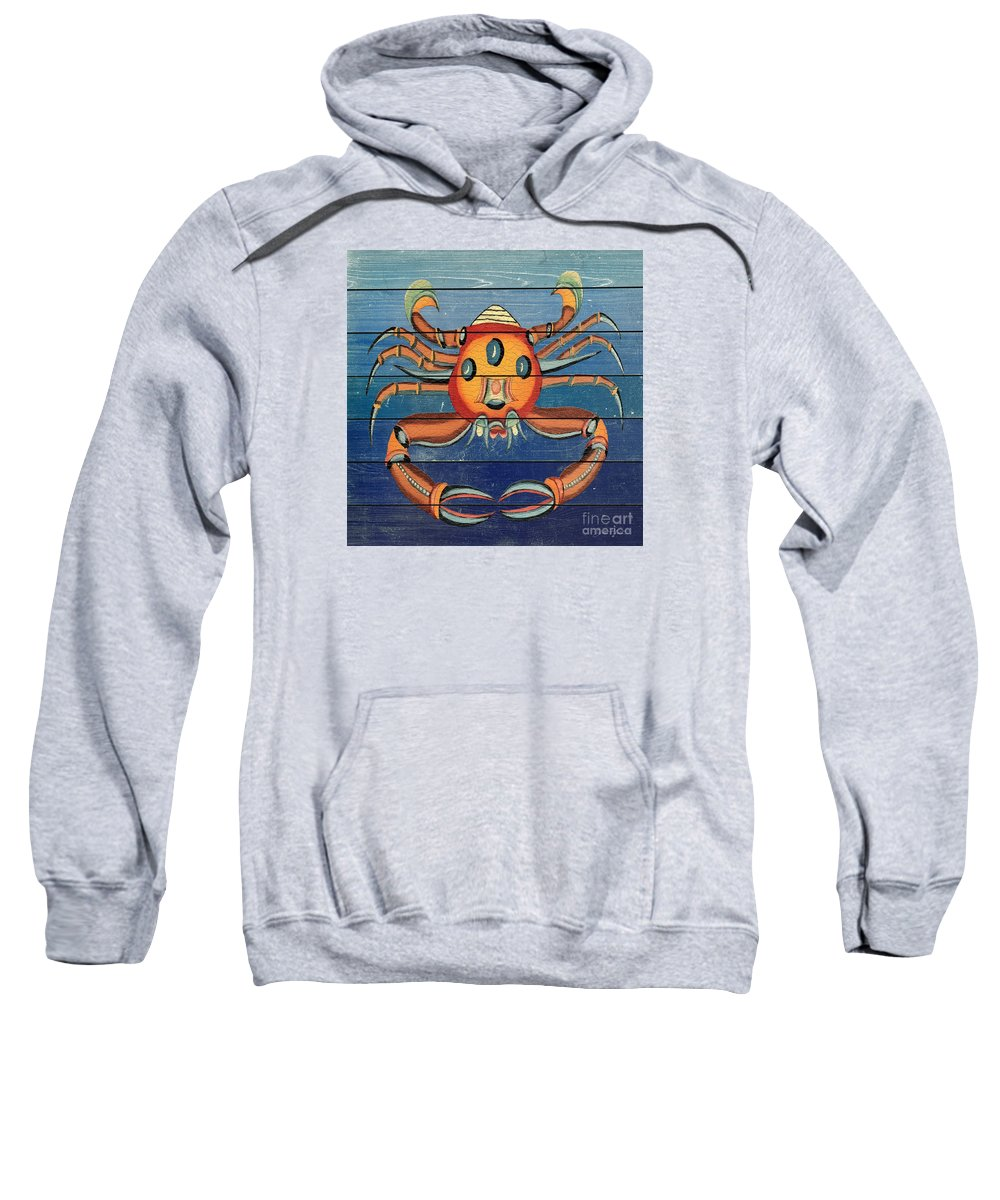 Nautical Sweatshirt featuring the painting Fanciful Sea Creatures-jp3825 by Jean Plout