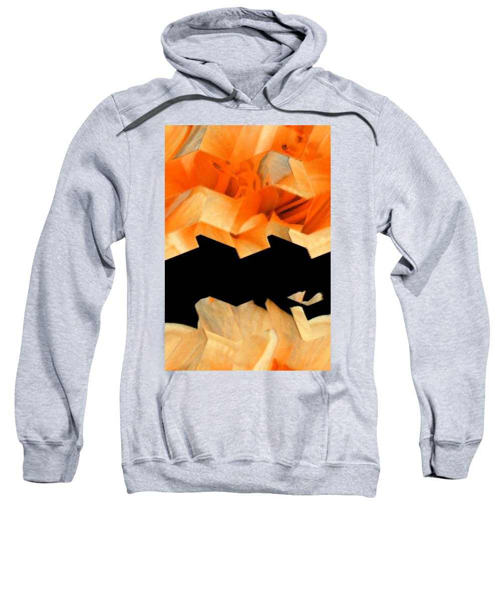 Abstract Sweatshirt featuring the digital art Filaments Of Sun by Lenore Senior
