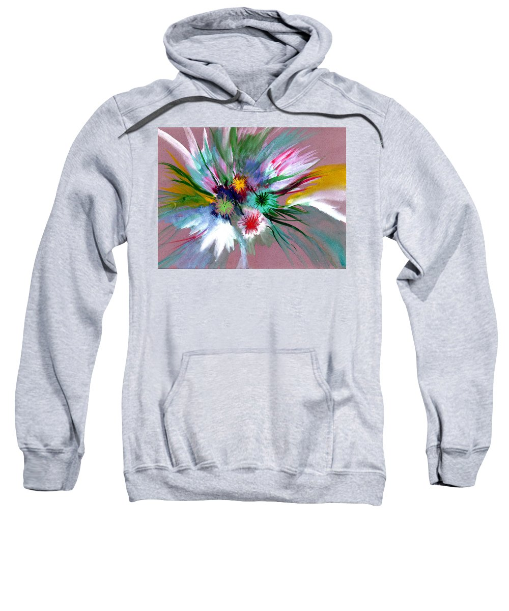 Flowers Sweatshirt featuring the painting Flowers by Anil Nene