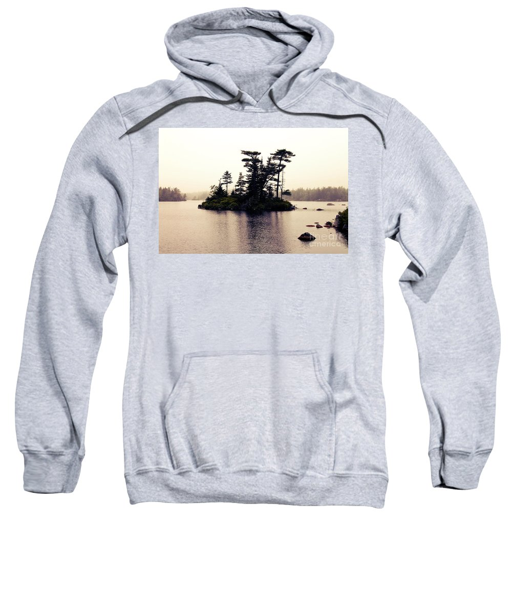 Landscape Sweatshirt featuring the photograph Fog Setting In On The Lake by Sandra Moore