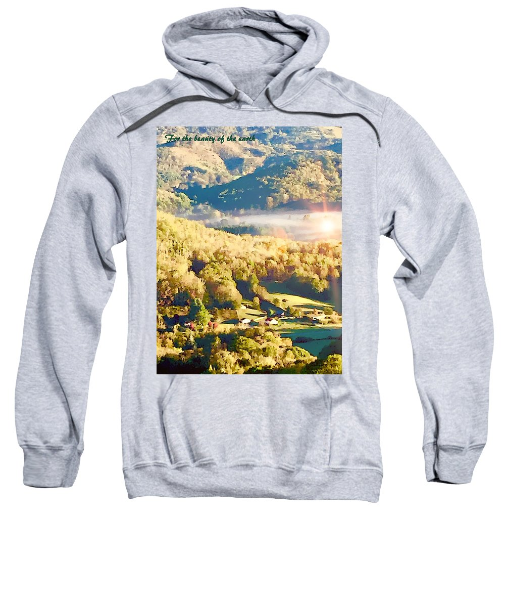 Landscape Sweatshirt featuring the digital art For The Beauty Of The Earth by Mindy Newman