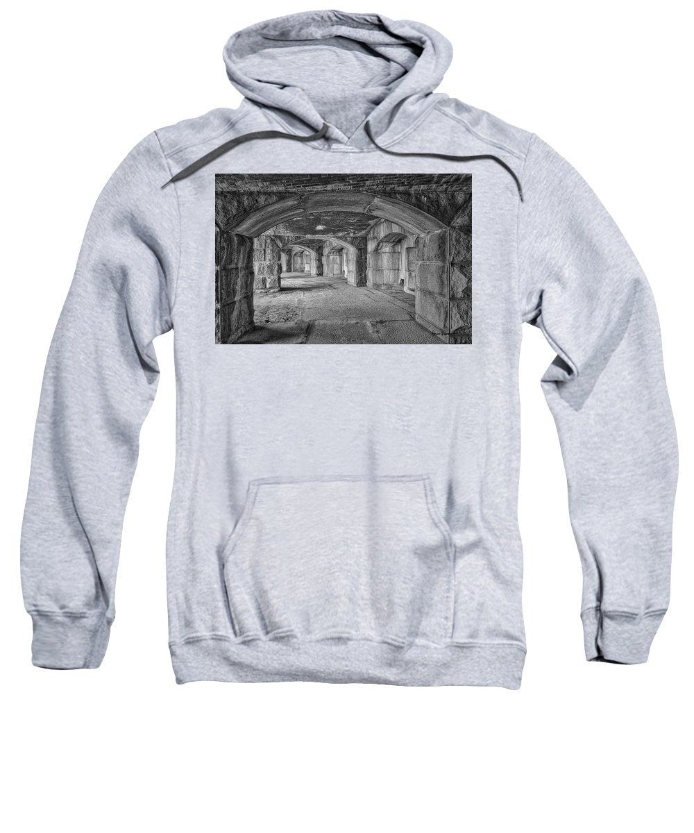 Black & White Sweatshirt featuring the photograph Hall Of Echoes by Ronn Orenstein
