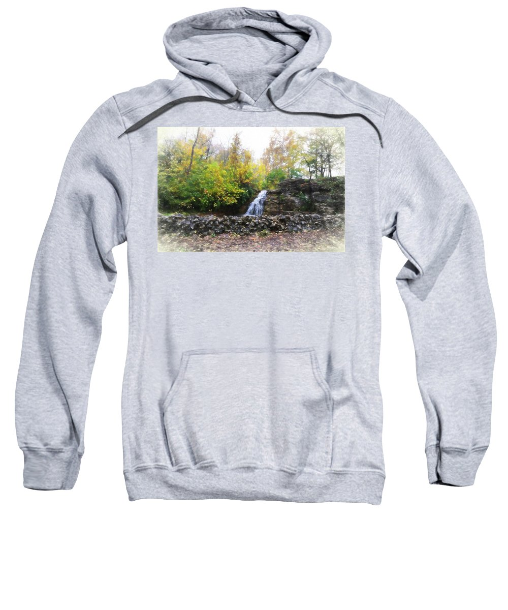 Sweatshirt featuring the photograph France Park by Deanna Rushforth