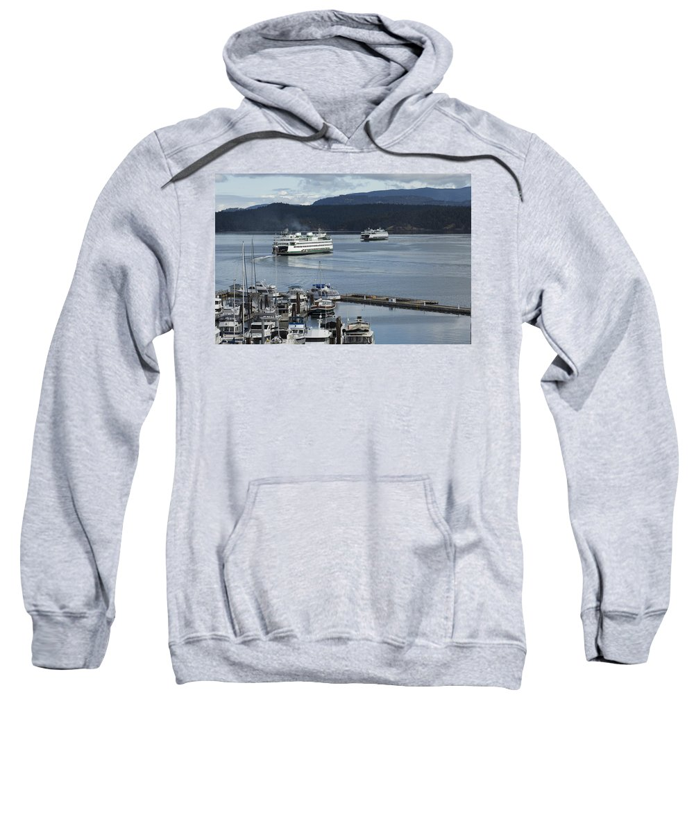 Friday Harbor Sweatshirt featuring the photograph Friday Harbor by Bob Stevens
