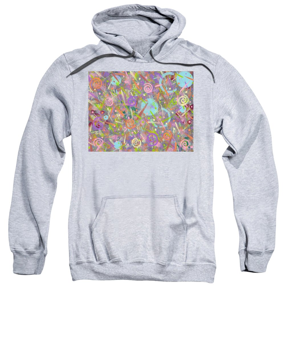 Abstract Sweatshirt featuring the painting Funfetti by Jill Christensen
