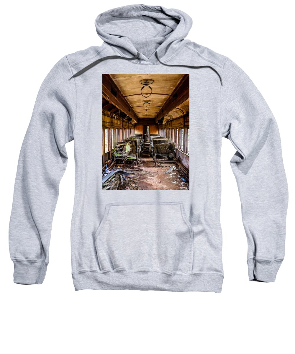 Train Sweatshirt featuring the photograph Ghost Train by Ray Greyling