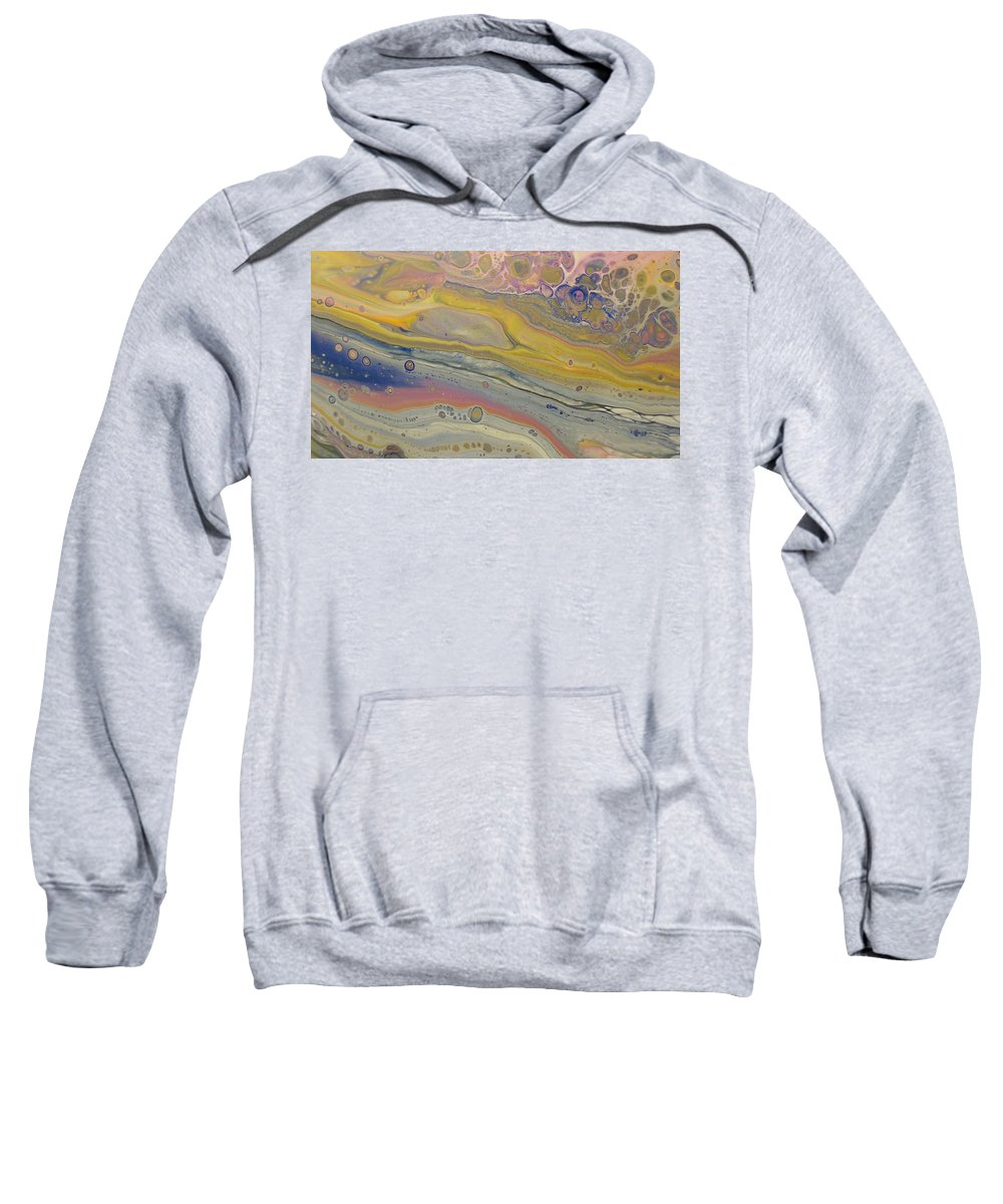 Abstract Sweatshirt featuring the painting Glide Across The Galaxy by C Maria Wall