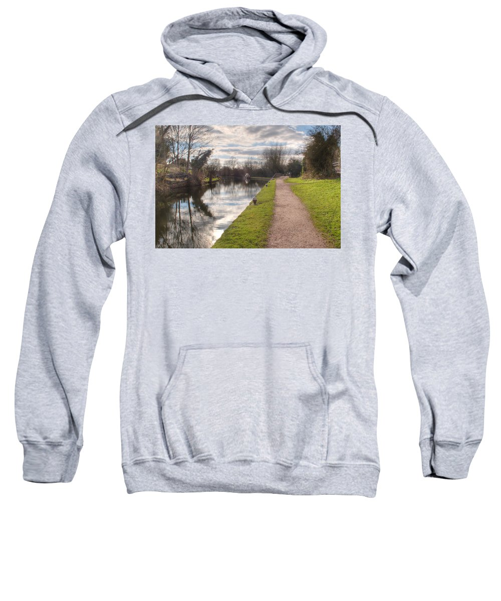 Springwell Sweatshirt featuring the photograph Grand Union Canal Rickmansworth by Chris Day