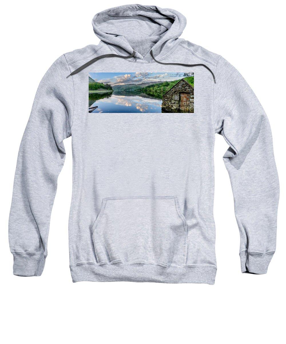 Lake Sweatshirt featuring the photograph Gwynant Lake by Adrian Evans