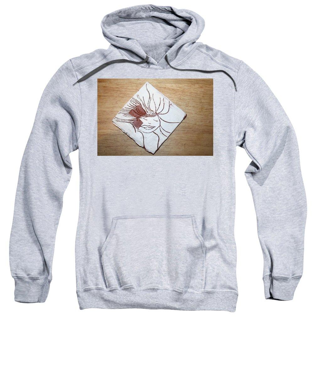 Jesus Sweatshirt featuring the ceramic art Heaven - Tile by Gloria Ssali