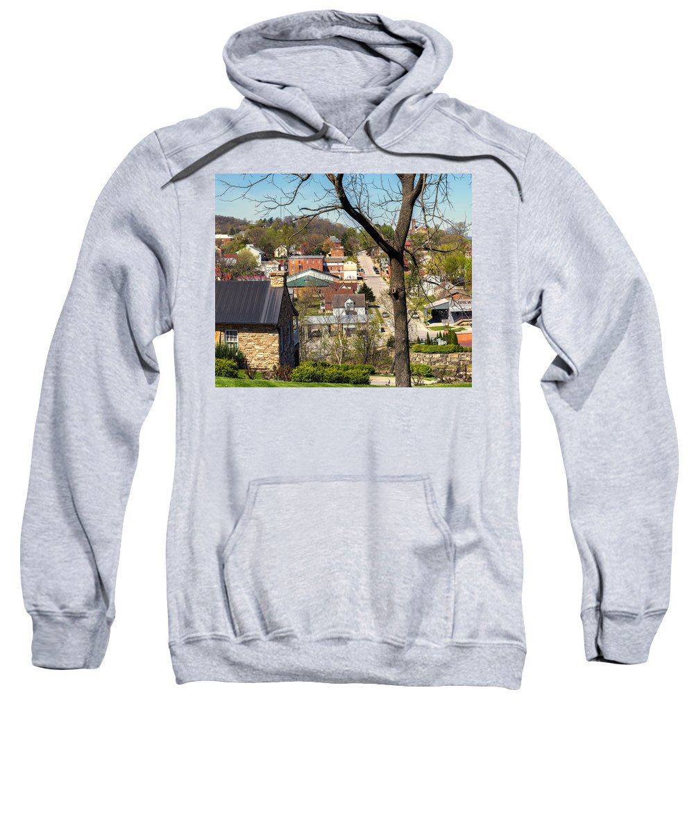 Hermann Sweatshirt featuring the photograph 1-hermann Mo Triptych Left_dsc3992 by Greg Kluempers