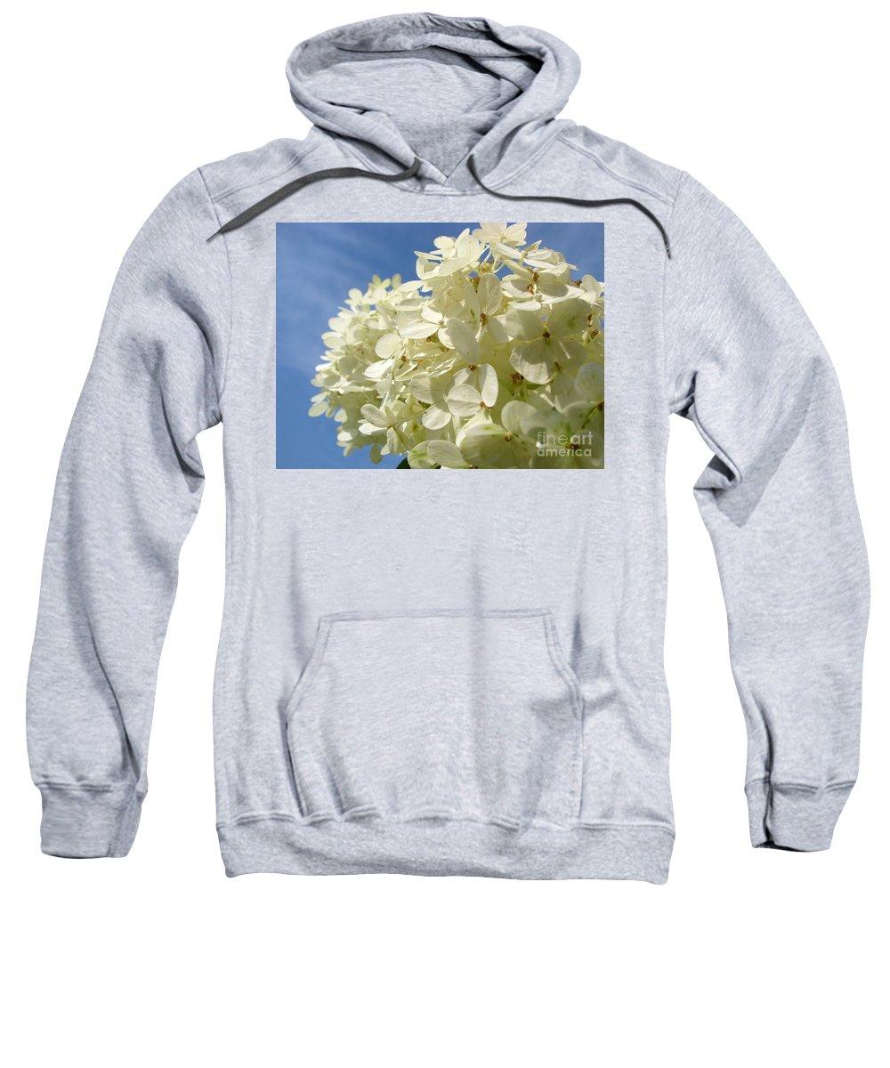 Hydranga Sweatshirt featuring the photograph Hydrangea by Amanda Barcon