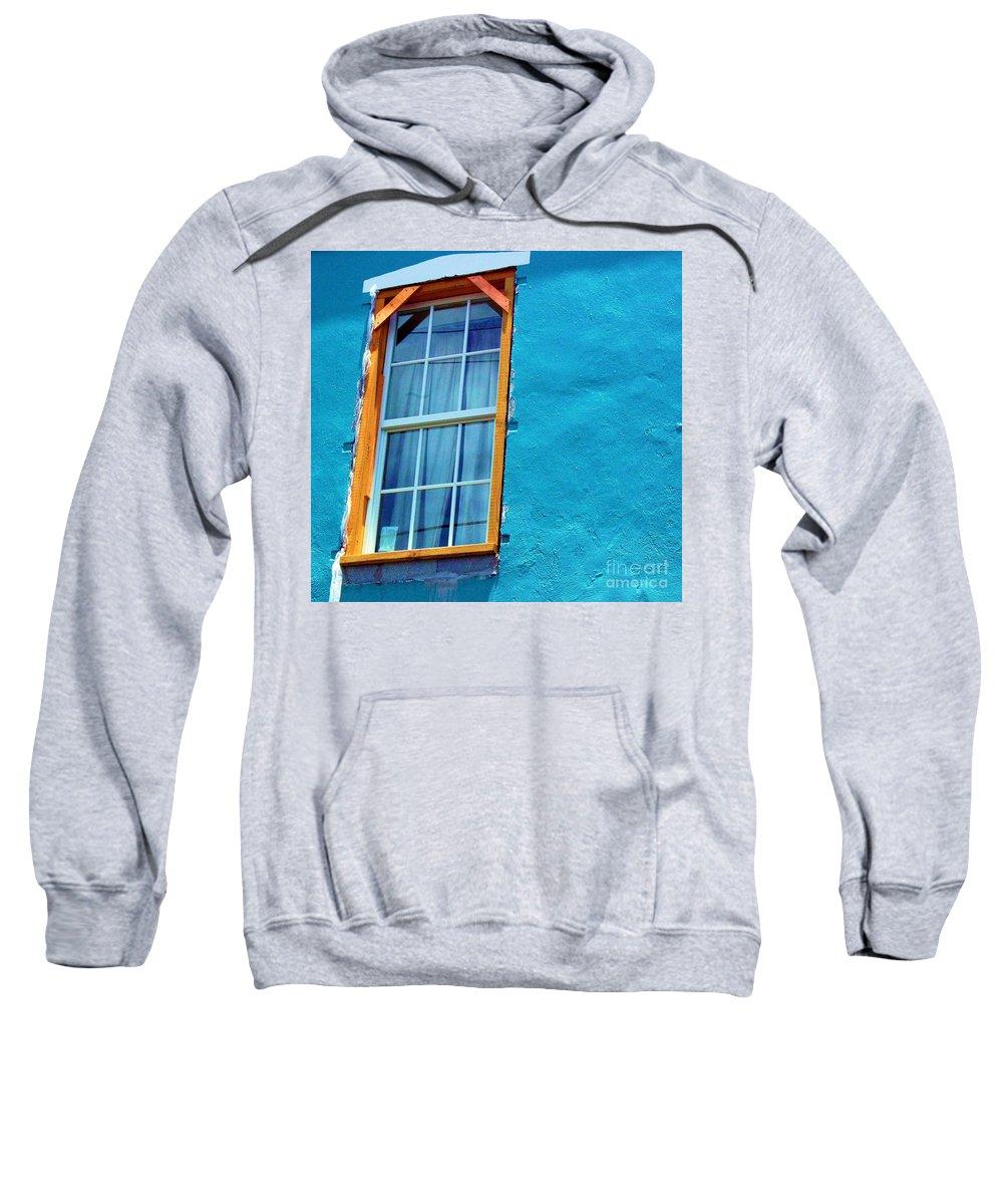 Window Sweatshirt featuring the photograph I Got The Blues by Debbi Granruth