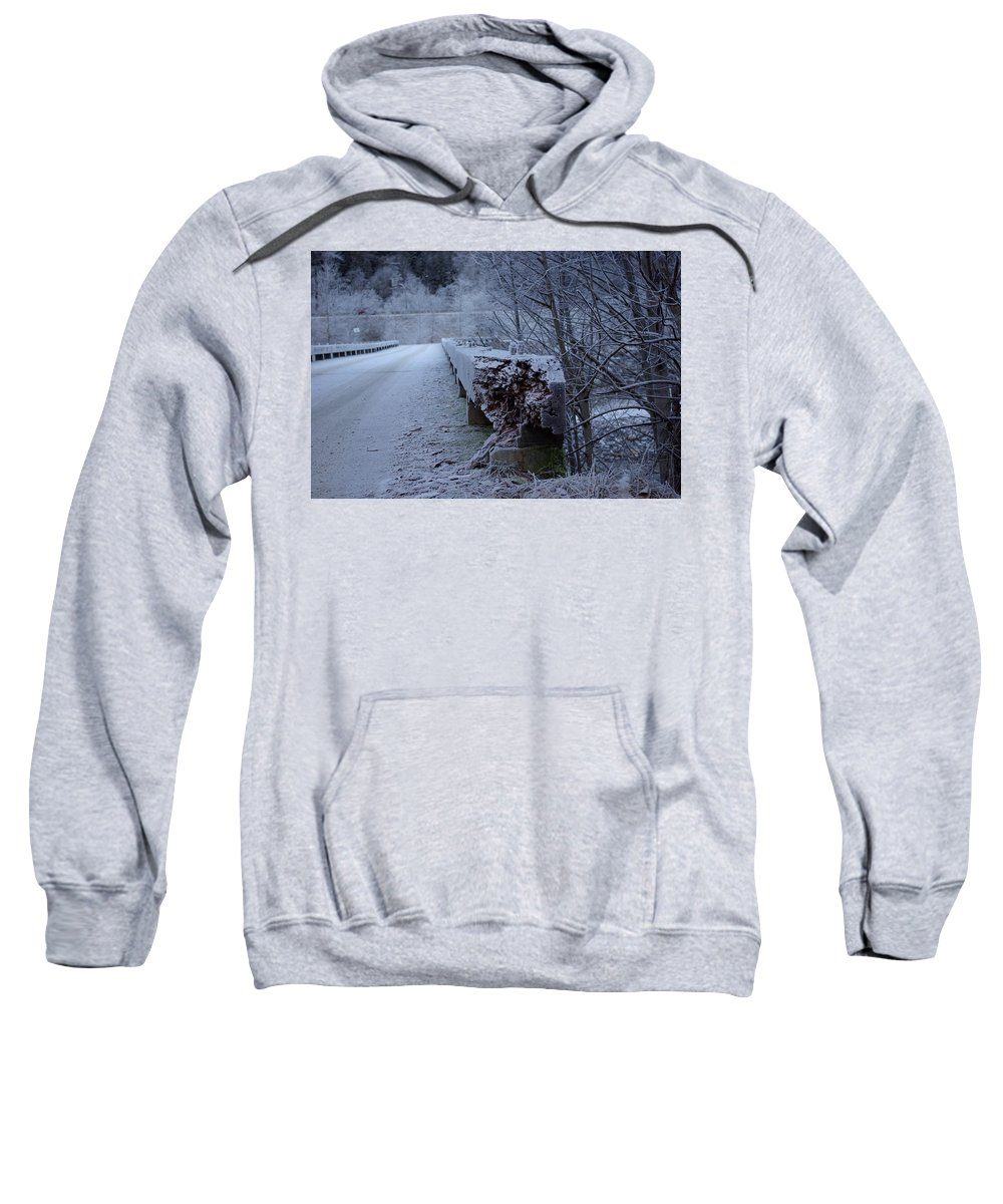 Ice Sweatshirt featuring the photograph Ice Bridge by Cindy Johnston