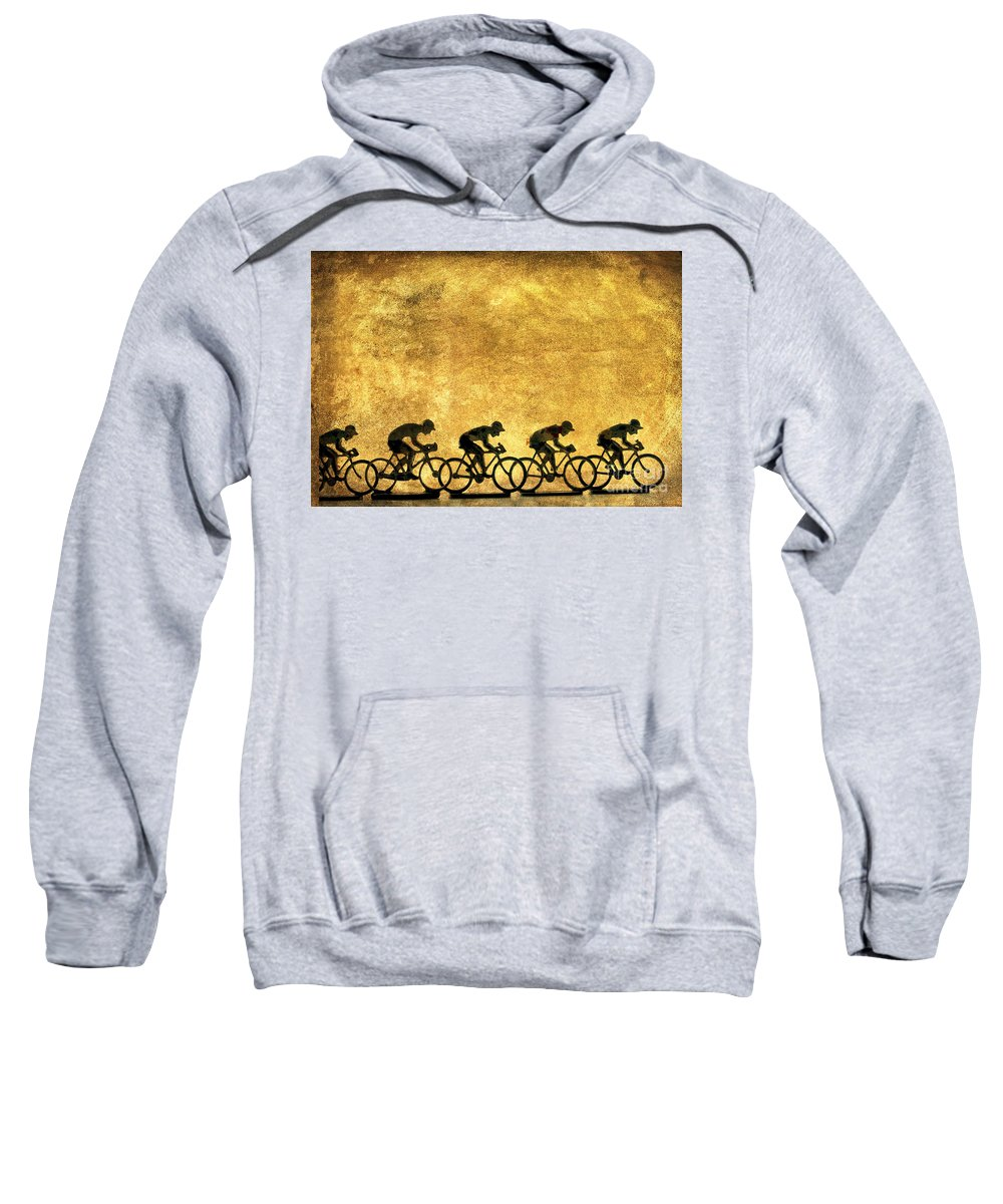 Bike-rider Sweatshirt featuring the photograph Illustration Of Cyclists by Bernard Jaubert
