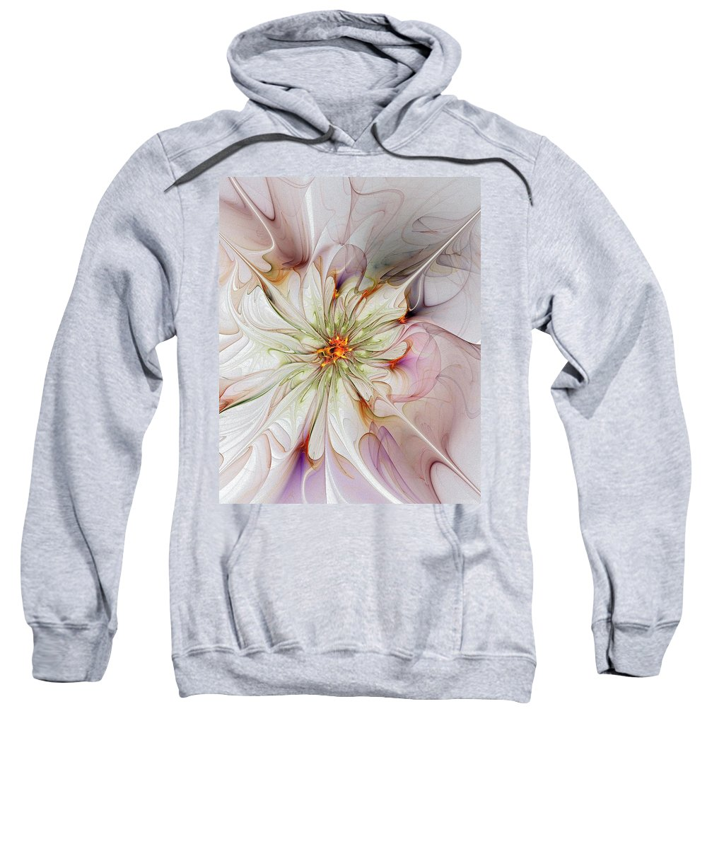 Digital Art Sweatshirt featuring the digital art In Full Bloom by Amanda Moore