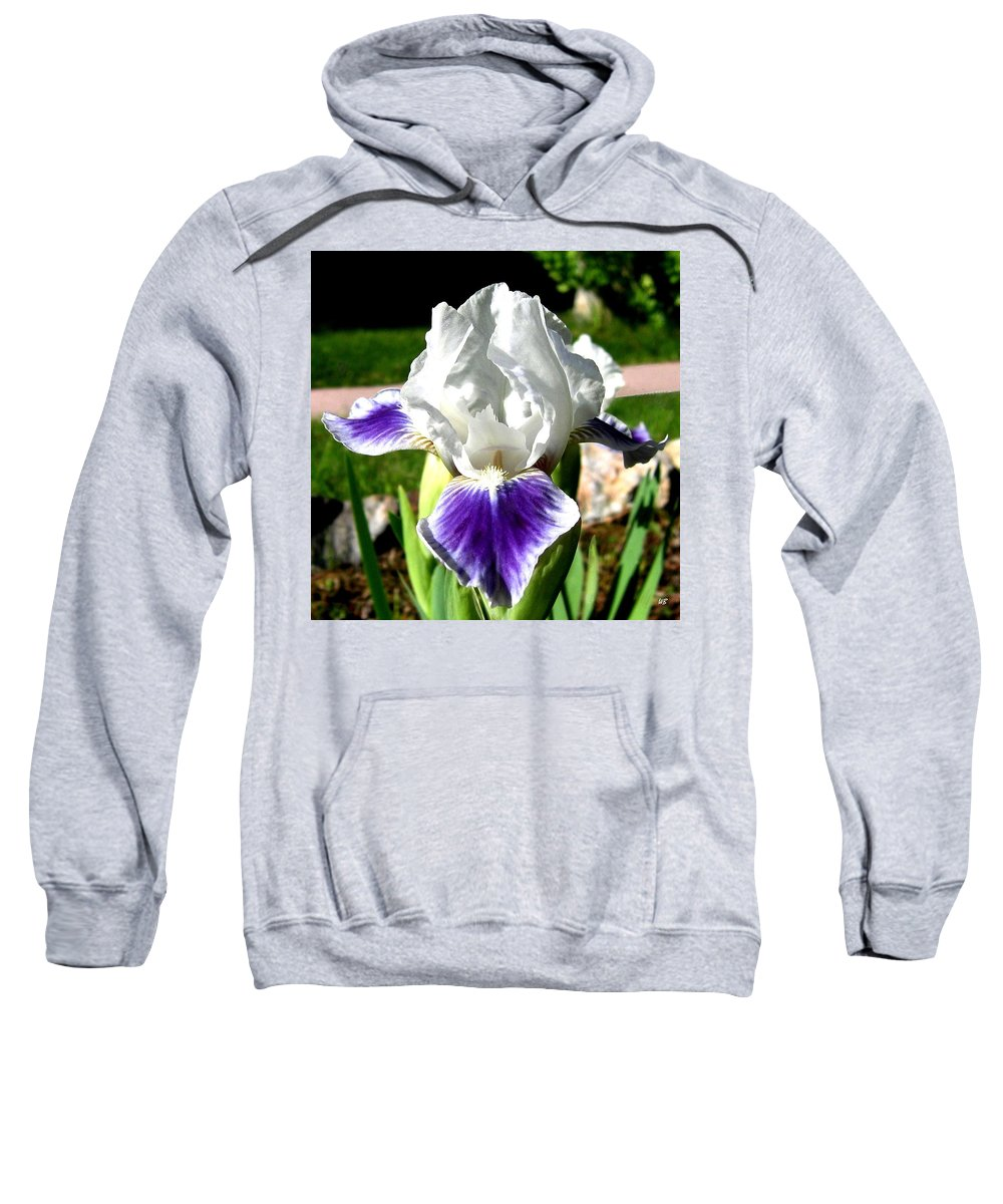 Iris Sweatshirt featuring the photograph Iris Elegance by Will Borden