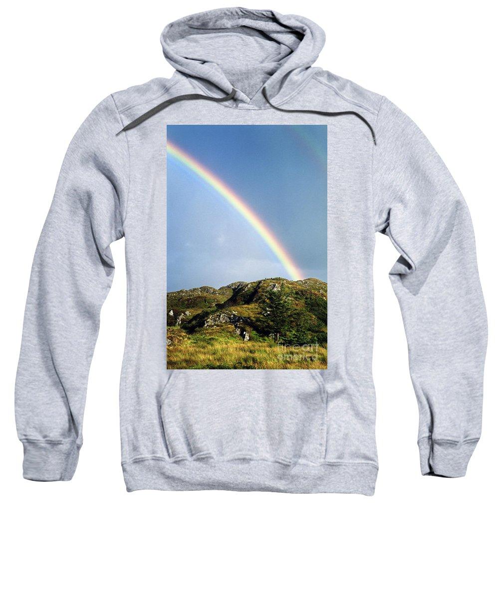 Rainbow Sweatshirt featuring the photograph Irish Rainbow by John Greim