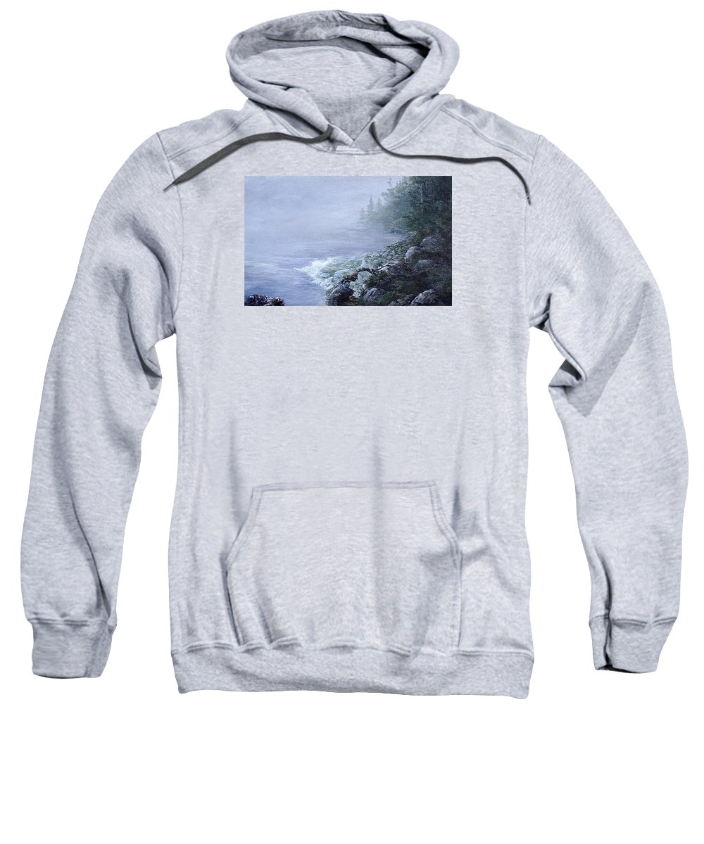 Art Sweatshirt featuring the painting Island by Jay Garfinkle