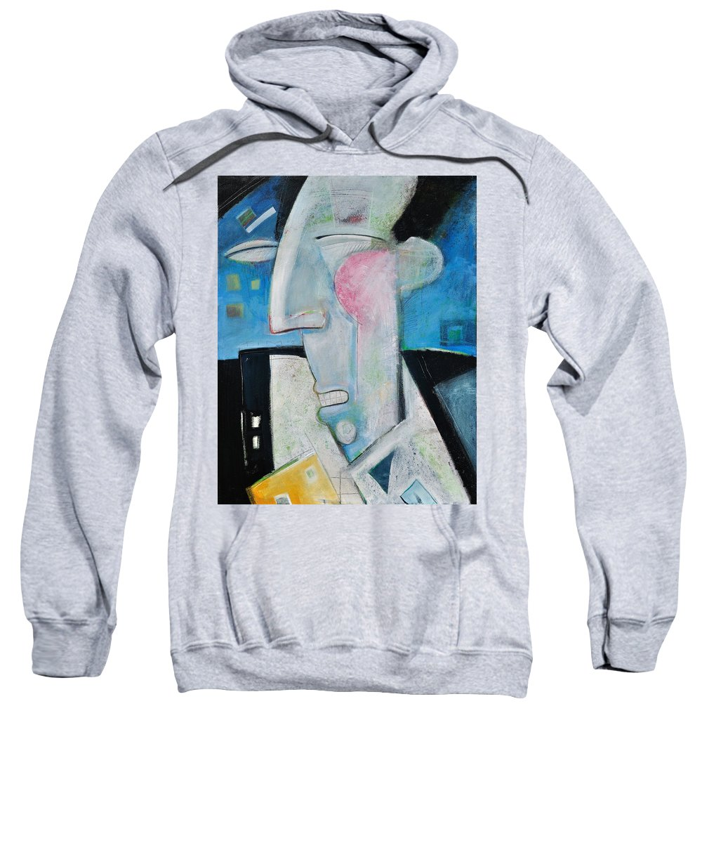 Jazz Sweatshirt featuring the painting Jazz Face by Tim Nyberg