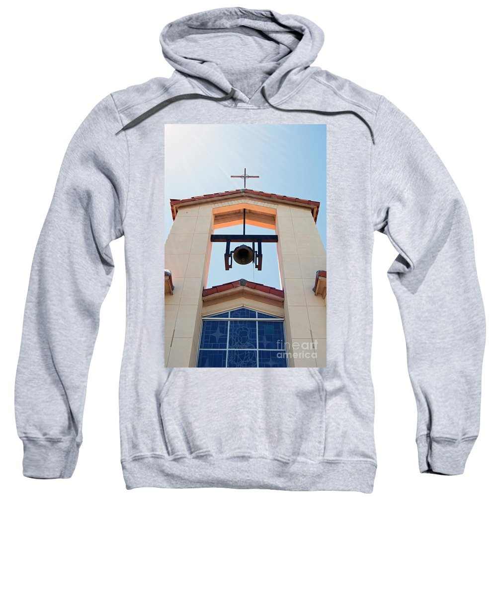 Cross Sweatshirt featuring the photograph 1 John 1 Vs 5 by Edmund Mazzola