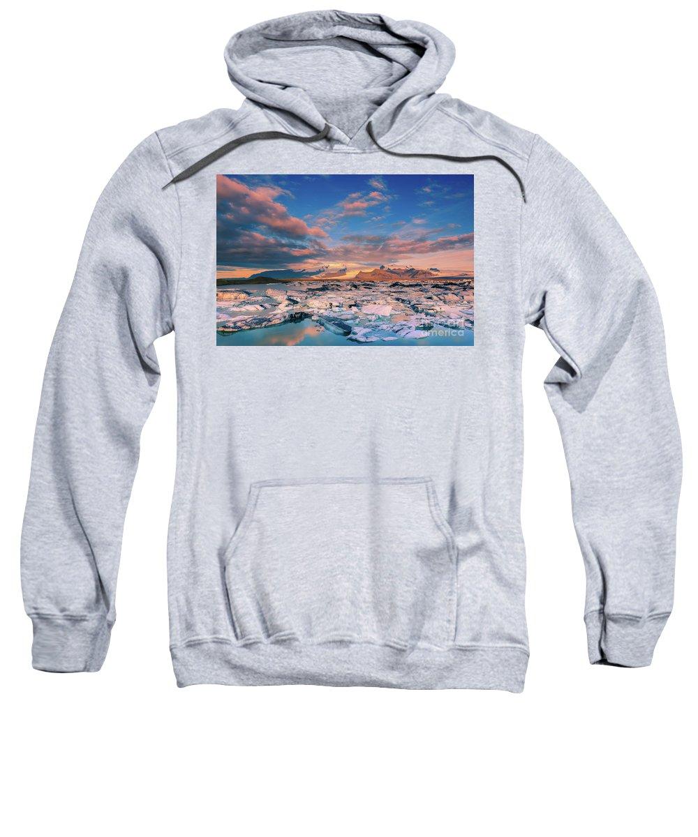 Jokulsarlon Sweatshirt featuring the photograph Jokulsarlon Glacier Lake - Iceland by Henk Meijer Photography