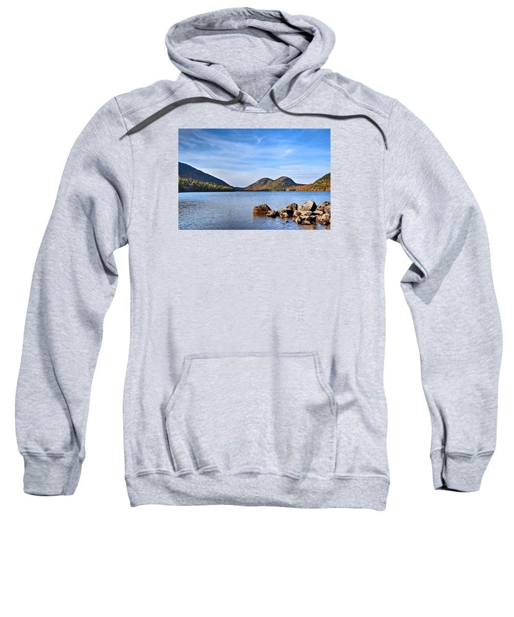 Acadia Sweatshirt featuring the photograph Jordan Pond No. 2 - Acadia - Maine by Geoffrey Coelho