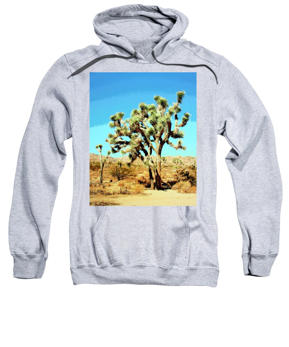Joshua Trees Sweatshirt featuring the photograph Joshua Trees by William Dey