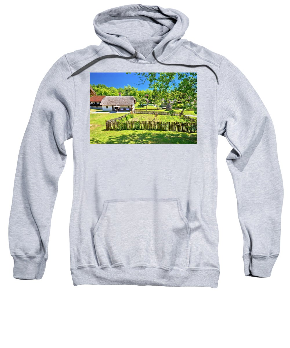 Kumrovec Sweatshirt featuring the photograph Kumrovec Picturesque Village In Zagorje Region Of Croatia by Brch Photography