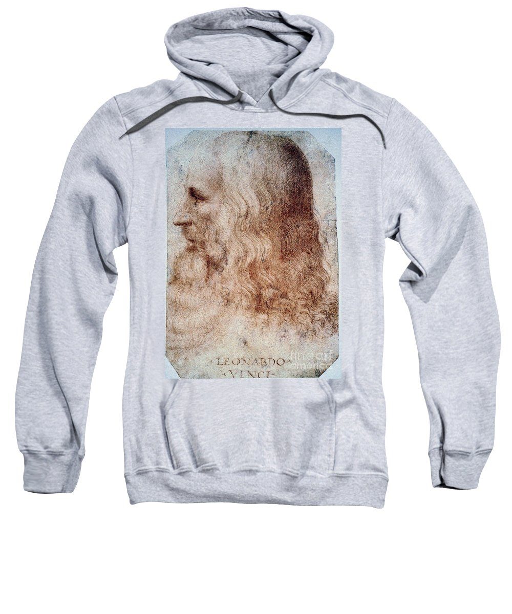 16th Century Sweatshirt featuring the photograph Leonardo Da Vinci by Granger