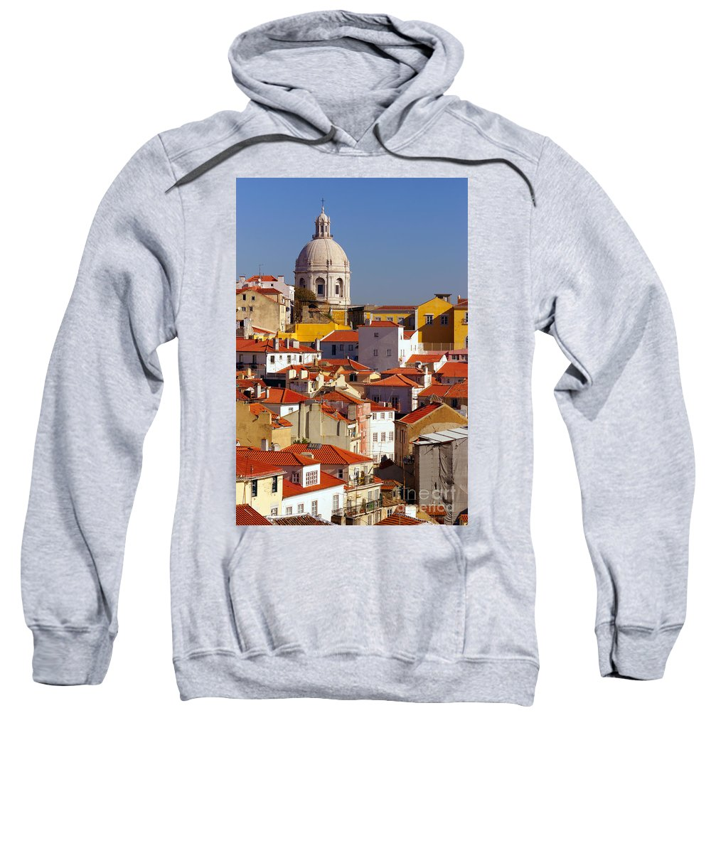 Alfama Sweatshirt featuring the photograph Lisbon View by Carlos Caetano