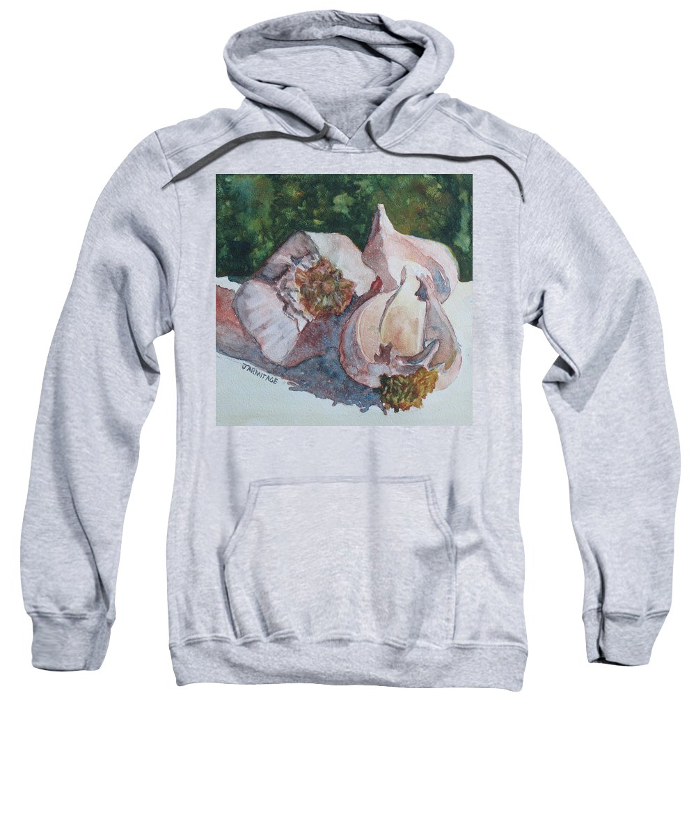 Garlic Sweatshirt featuring the painting Little Garlic II by Jenny Armitage