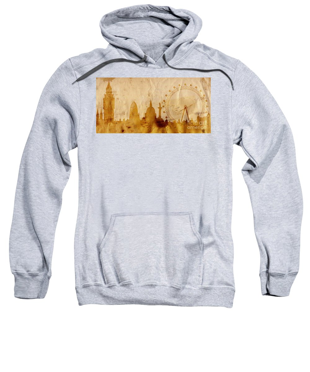 London Sweatshirt featuring the mixed media London by Michal Boubin