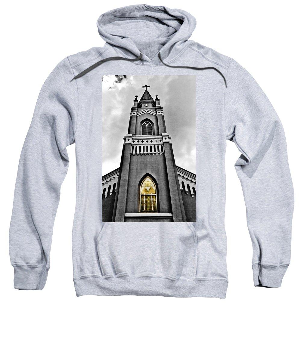 Church Sweatshirt featuring the photograph Looking Up by Scott Pellegrin