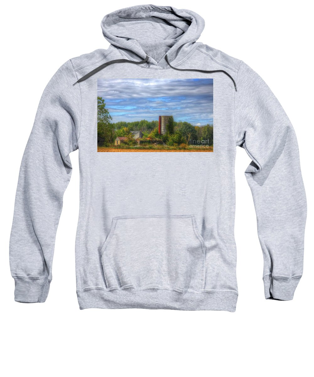 Old Barn Sweatshirt featuring the photograph Lost In Time by Robert Pearson