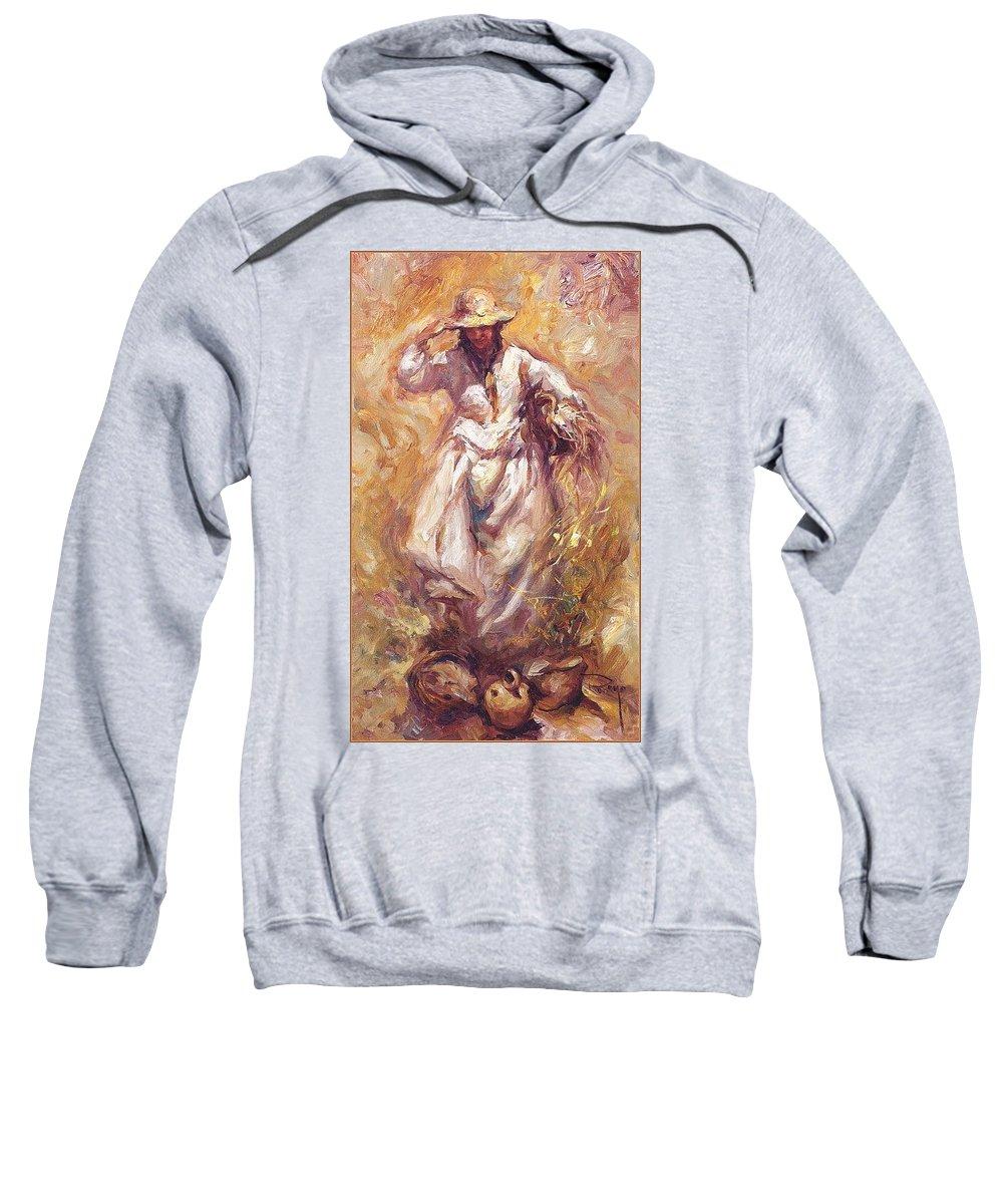 Art Sweatshirt featuring the digital art lrsCOL004Royo Estudio Jose Royo by Eloisa Mannion