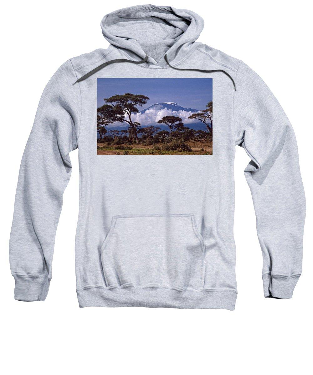 Africa Sweatshirt featuring the photograph Majestic Mount Kilimanjaro by Michele Burgess