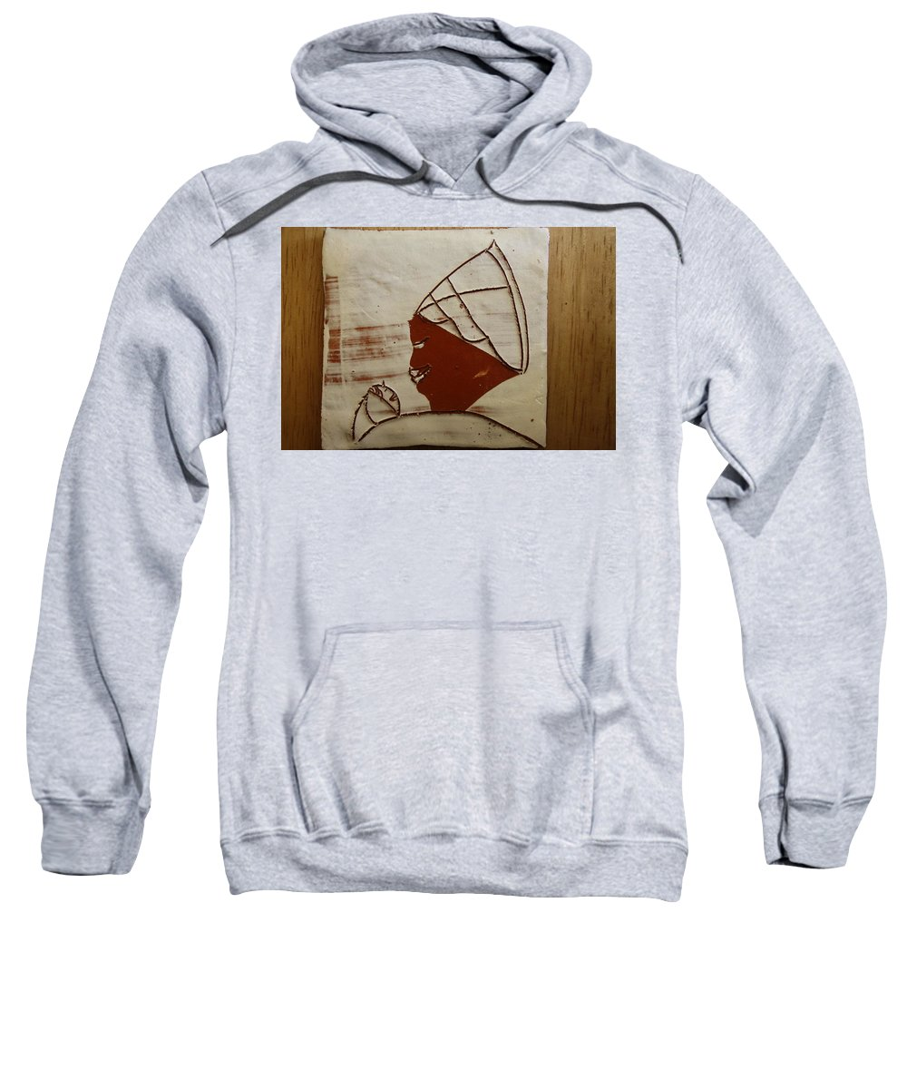 Jesus Sweatshirt featuring the ceramic art Mama 6 - Tile by Gloria Ssali