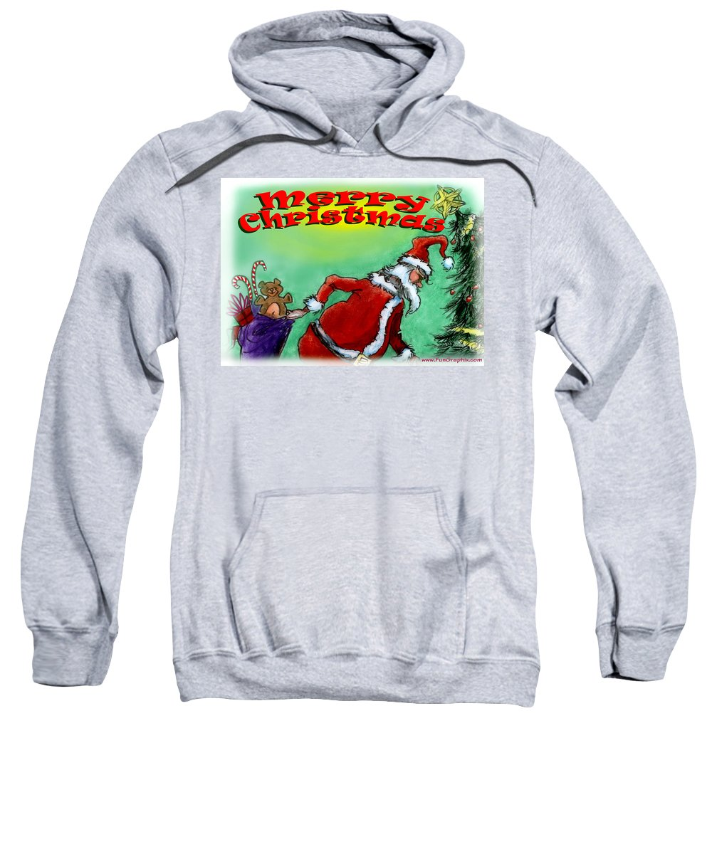 Christmas Sweatshirt featuring the digital art Merry Christmas by Kevin Middleton