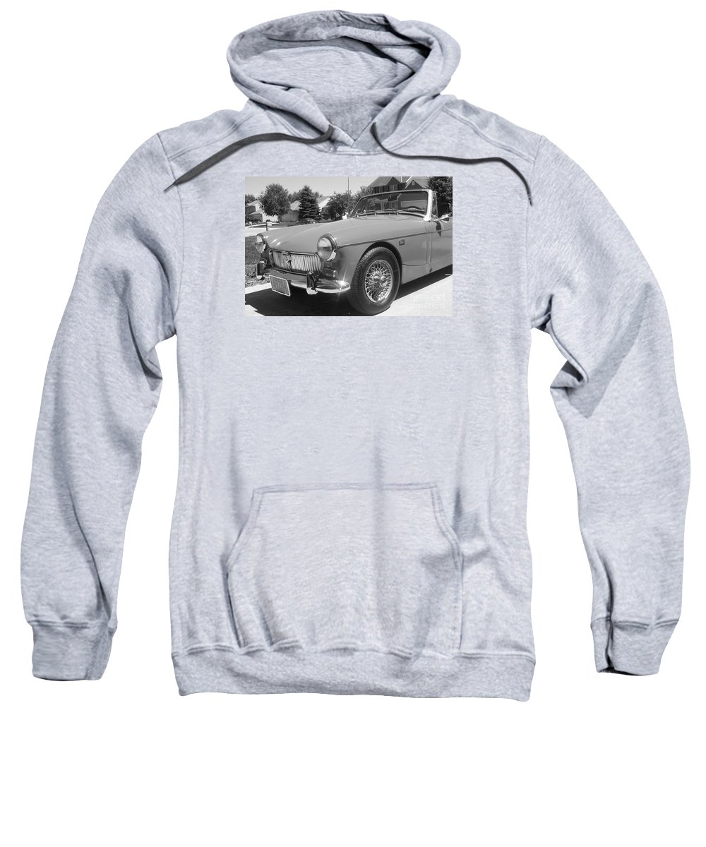 Mg Sweatshirt featuring the photograph Mg Midget by Neil Zimmerman
