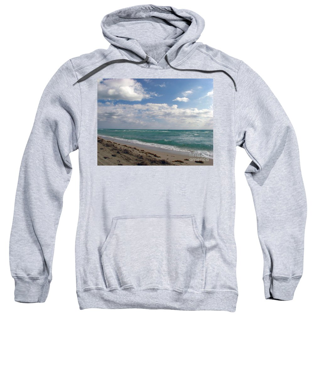 Miami Beach Sweatshirt featuring the photograph Miami Beach by Amanda Barcon
