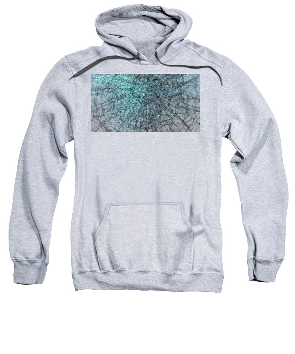 Sweatshirt featuring the digital art Microbiology by Sonja Bojanic