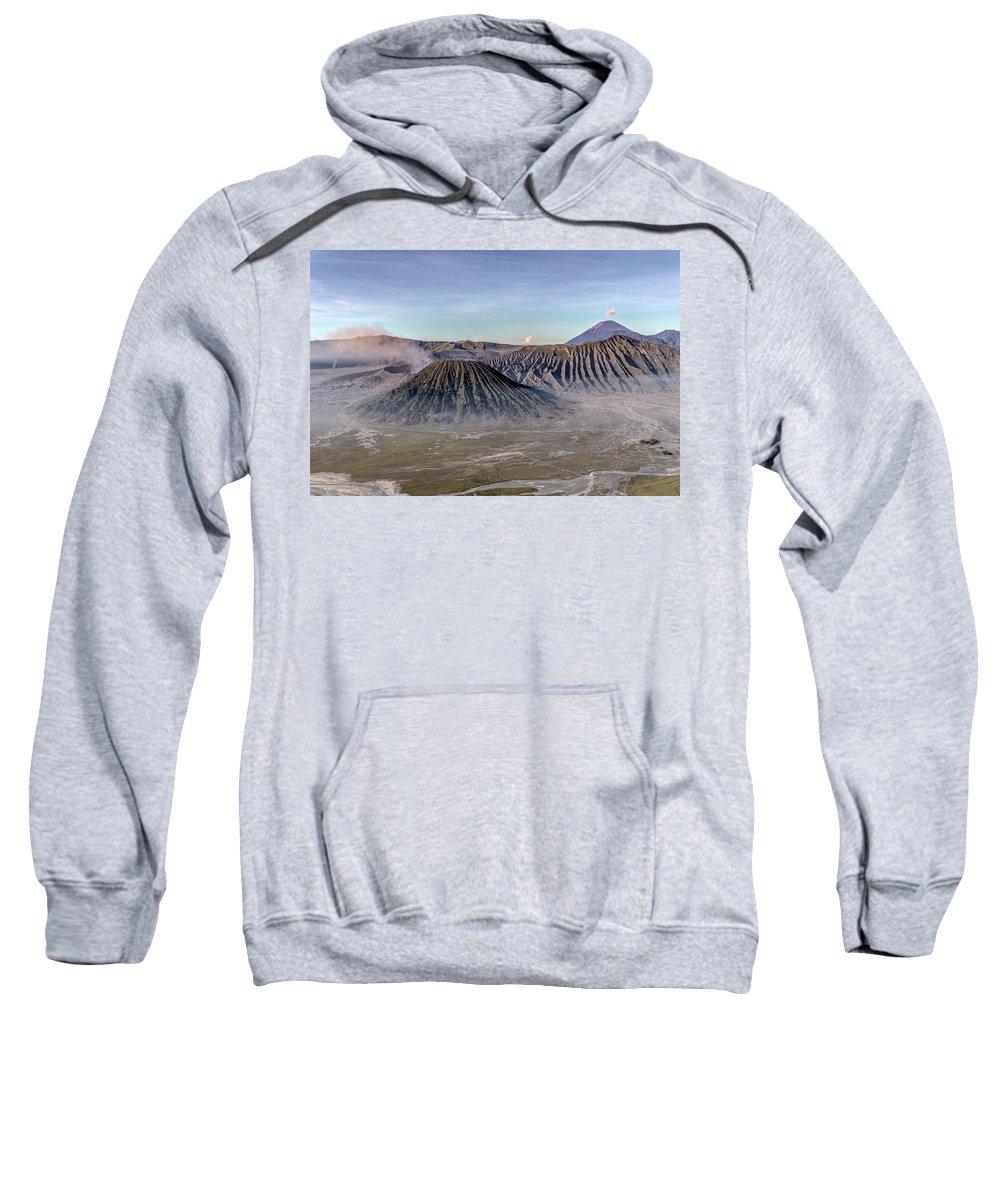 Bromo Tengger Semeru National Park Sweatshirt featuring the photograph morning light Mount Bromo - Java by Joana Kruse