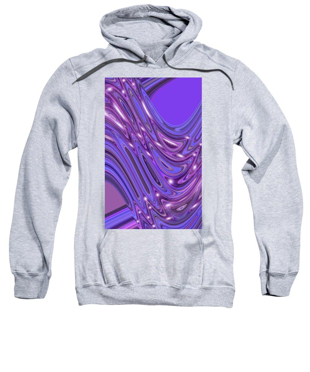 Moveonart! Digital Gallery Sweatshirt featuring the digital art Moveonart Waves Of Interpretation by Jacob Kanduch
