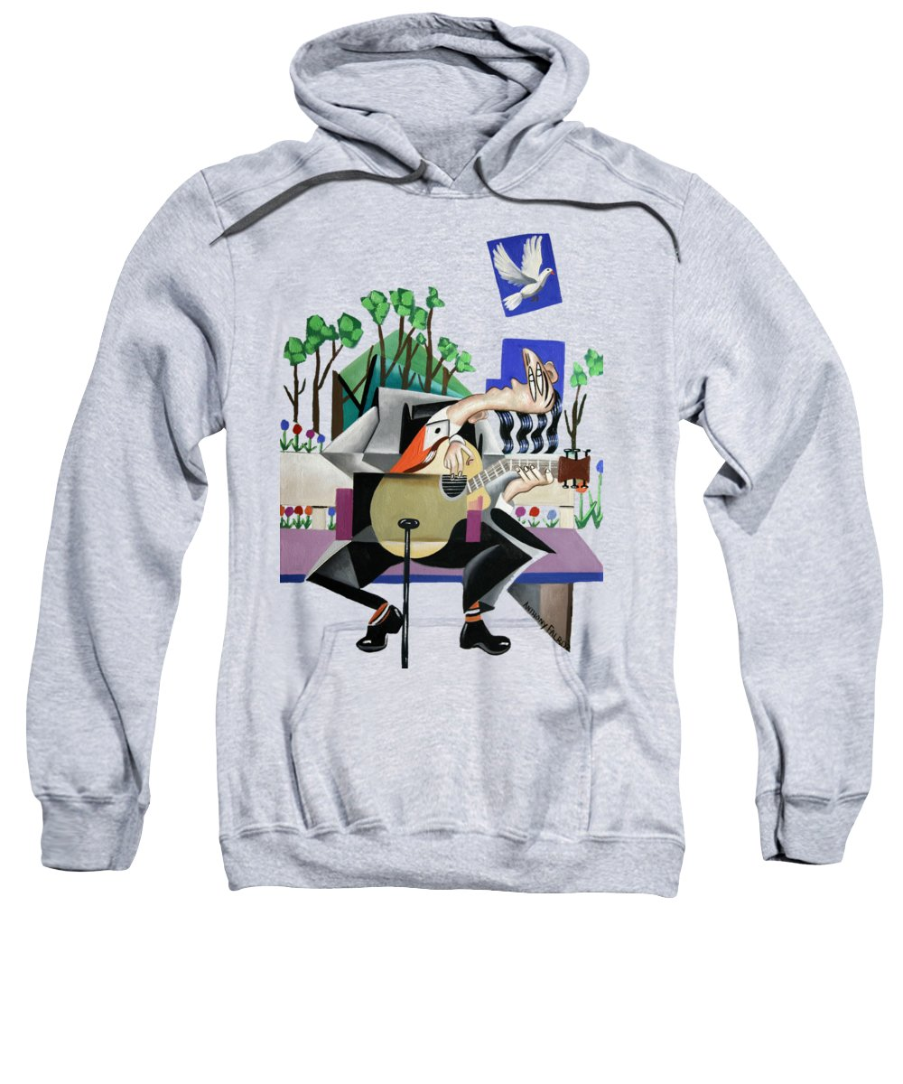 Music A Gift From The Holy Spirit T-shirt Sweatshirt featuring the painting Music A Gift From The Holy Spirit by Anthony Falbo
