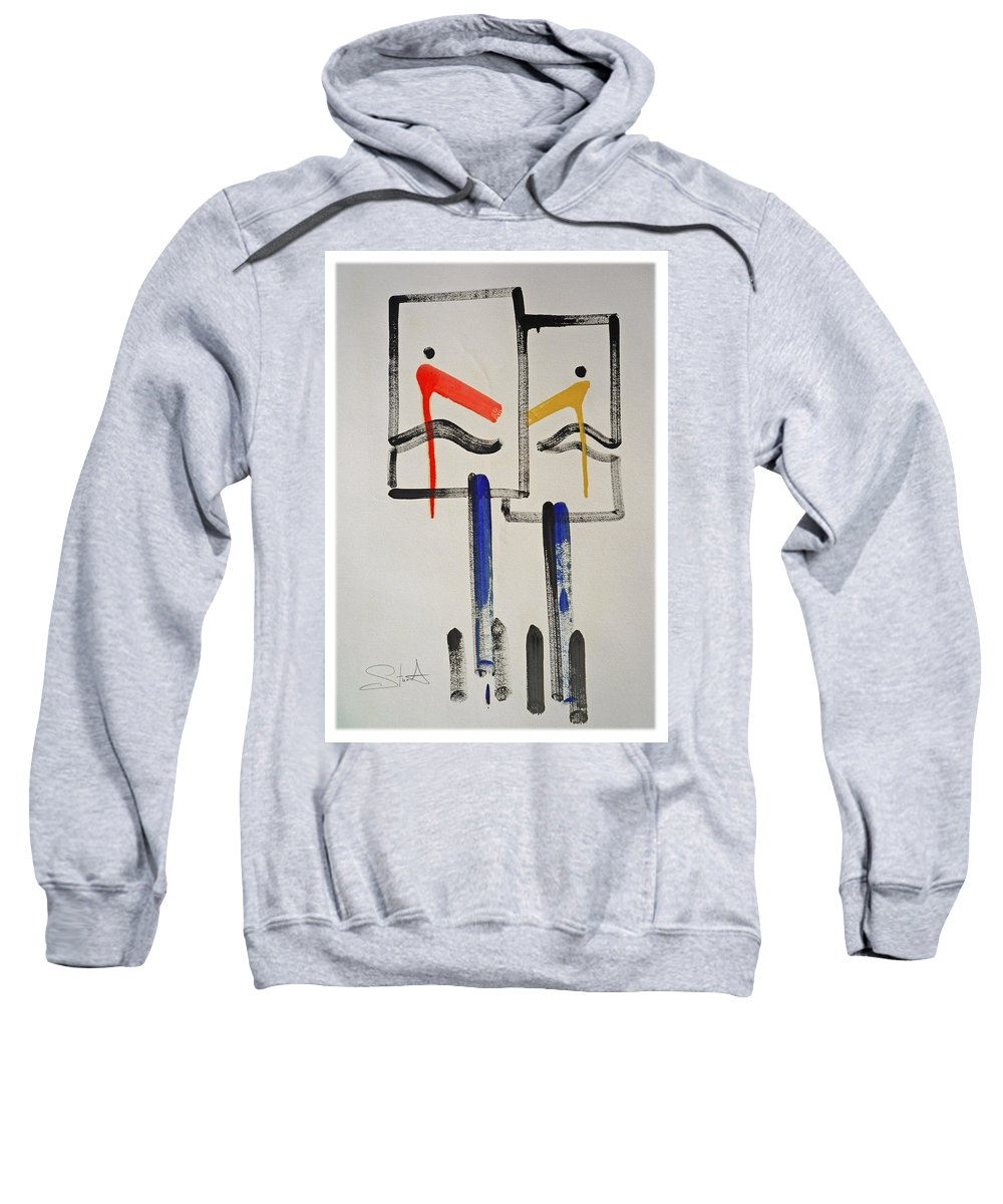 Native American Sweatshirt featuring the painting Native Americans by Charles Stuart