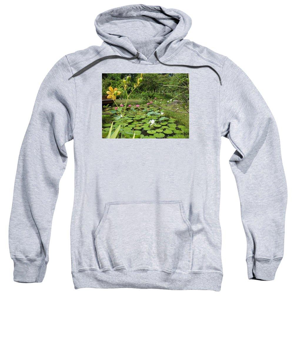 Nenufares Sweatshirt featuring the photograph Nenufares by Tomas Castano
