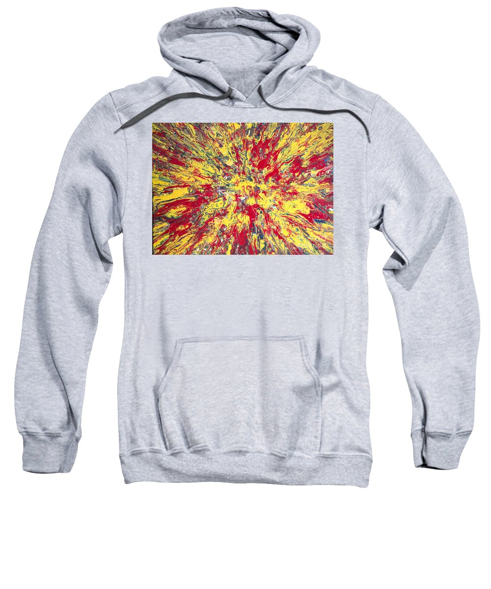 Abstract Sweatshirt featuring the painting Nova by Ron Kirkland