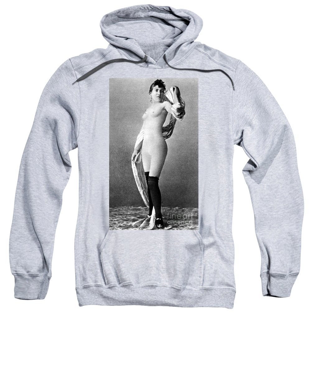 Sweatshirt featuring the painting Nude Posing, C1888 by Granger