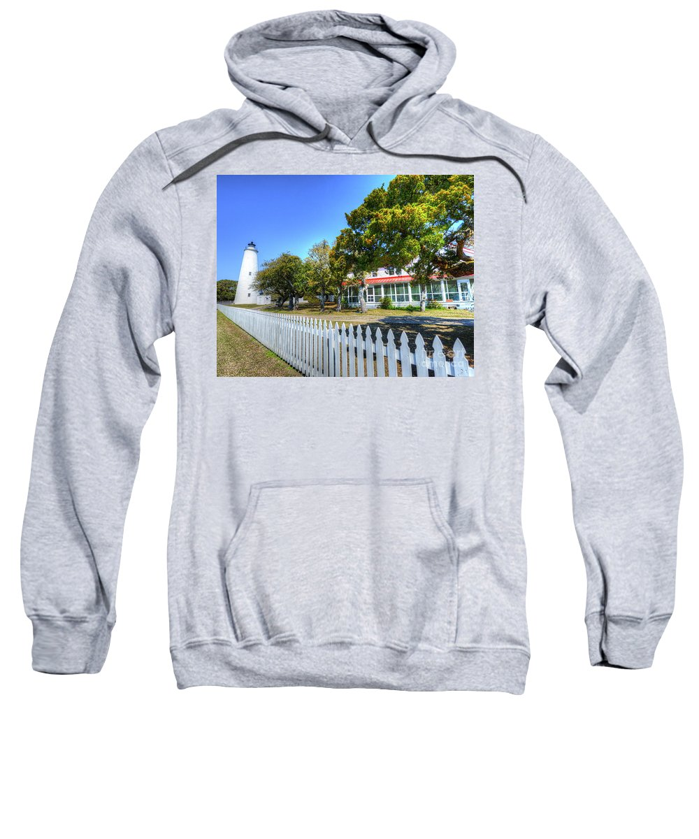 Currituck Beach Sweatshirt featuring the photograph Ocracoke Lighthouse, Ocracoke Island, Nc by Greg Hager